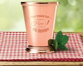 Personalized Mint Julep Cup 12 oz, Custom Name Engraved Cocktail Cups, Stainless Steel Martini Cup Gift for Him Her, Customized Barware Gift