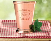 Mint Julep Cup, Cocktail Cup, Personalized Cup, Copper Plated 12oz Cup, Engraved Cup, Stainless Steel Cup