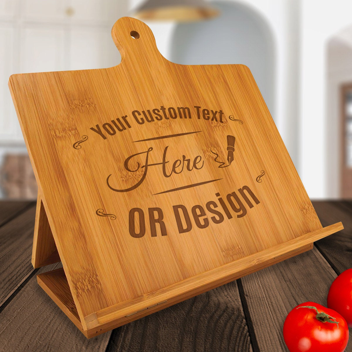 Personalized Cook Chef Gift Recipe Book Phone Stand Easel Made with Love by Name
