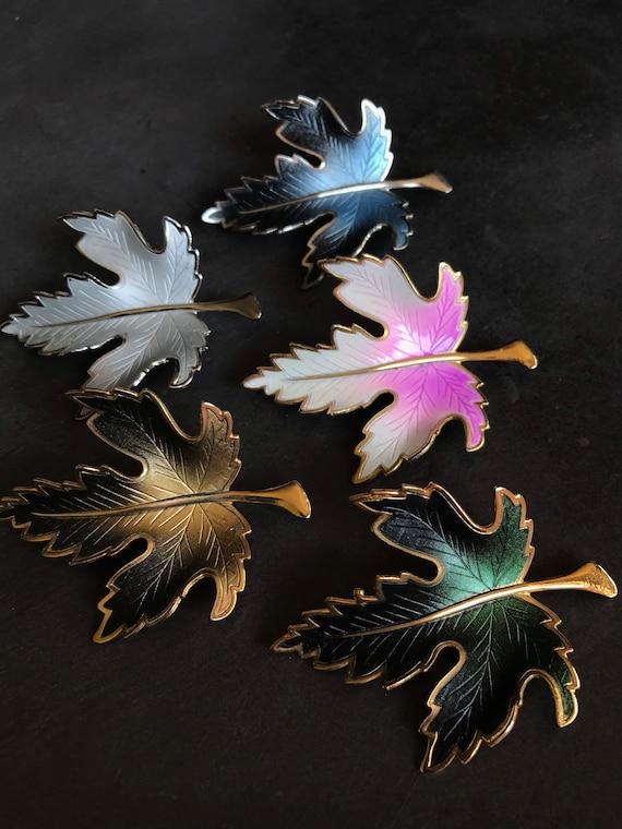 vintage brooch lot leaf brooch autumn brooch fall