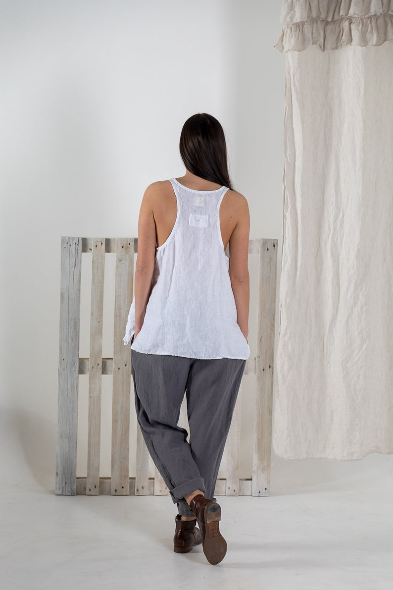 Plus size shirt Linen shirt for women sleeveless Linen shirt MIA boho  summer shirt tunic shirt