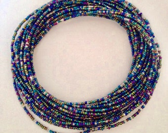 Galaxies African Waist Beads - Belly Beads - African Jewelry - with clasps
