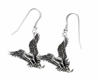 Paire de balbuzard pêcheur sur crochet bijoux Boucles d oreilles en argent  sterling 925 bijoux Code B44 2338fca6c8a