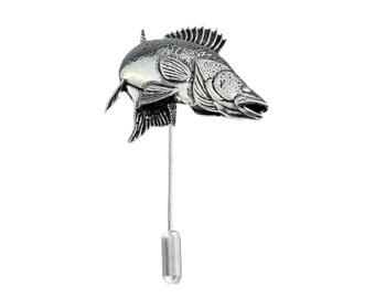 3f91ca45e6dce Zander Walleye fish on a tie stick pin