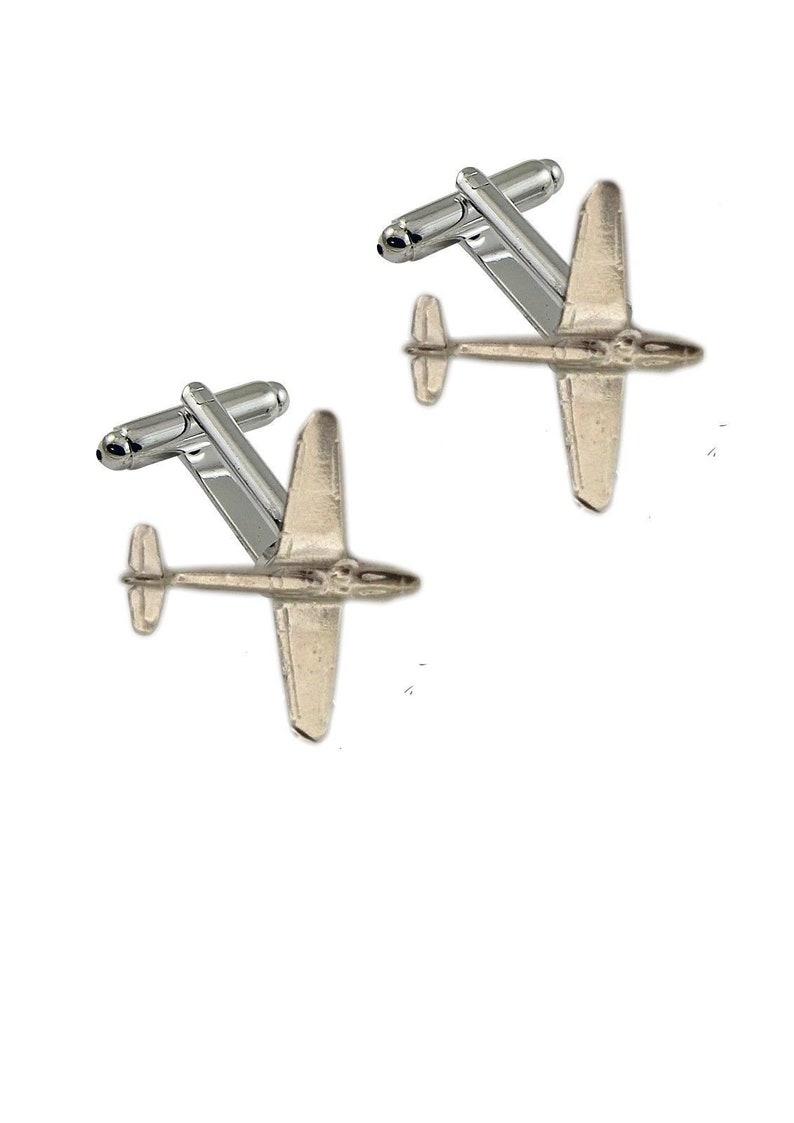Messerschmitt Bf 109 Pewter Emblem Cufflinks Jewellery Smart Suit wedding code19