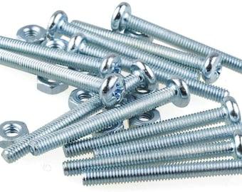 12x Screws M2.5 x 30 mm + nut for small plastic knobs accessories