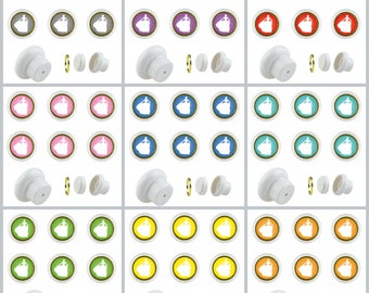 Set of 6 Small Furniture Buttons Plastic Furniture Handles Furniture Button Furniture Knob Ceramic Princess (supplied with screw)