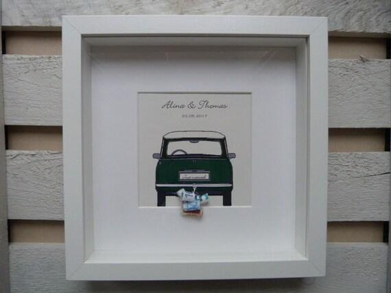 Geldgeschenk Zur Hochzeit Bilderrahmen Mit Individualisierbarem Bild Bus