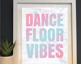 Dance Floor Vibes | Marble | Fun Gift | New Home | House warming | Wall art | Home decor