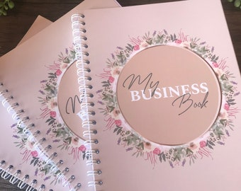 A5 spiral bound business book | Planner | undated | Diary | Small business Journal with stickers | Notebook