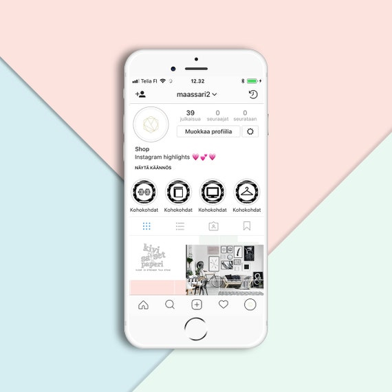 Instagram Story 16 Highlights Icons, story highlights, Instant download,  Instagram template, digital, highlights kit, graphic, story covers
