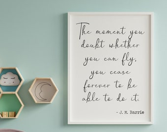 you cease for ever to be able to do it Tinker Bell Wall Clock The moment you doubt whether you can fly