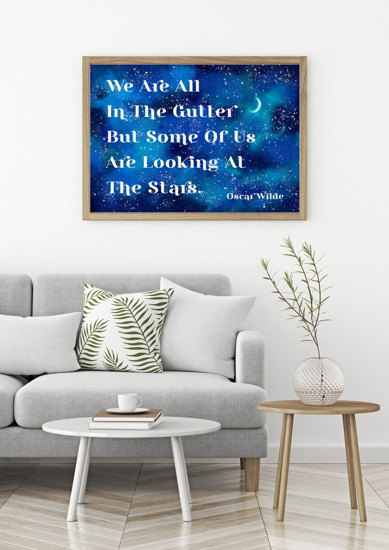 We are all in the gutter Oscar Wilde Print Unframed inspirational ...