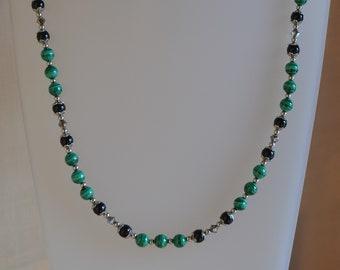 Malachite & Pearl Necklace