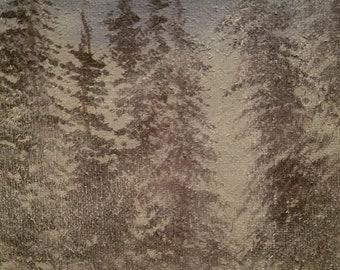 Textured White Forest
