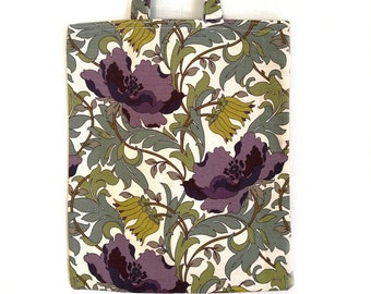 William Morris Flower tote bag for shopping