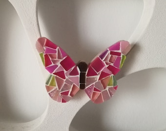 Handmade brooch, mosaic brooch, jewelry, butterfly brooch, gift for her, spring mood