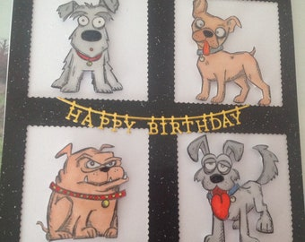 Funny dogs birthday card