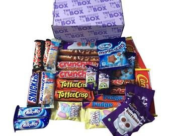 Mega Sweet Box Chocolate Sweets Gift Selection Sharing Chocolate Bars Box