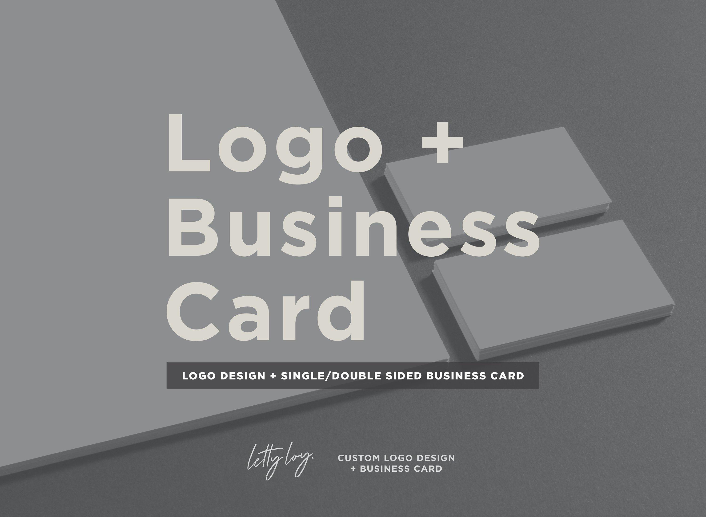 Logo Business Card Pack Custom Logo Design Logo Design Etsy