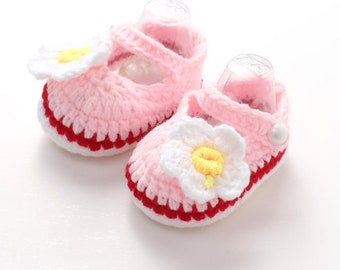 Baby shoes Crib Crochet Casual Baby Girls Handmade Knit Infant Shoes Girls