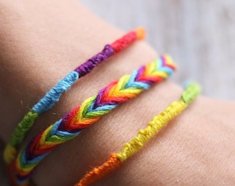 LGBT pride friendship bracelet, set of 3