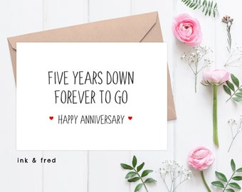 5th anniversary card | Etsy