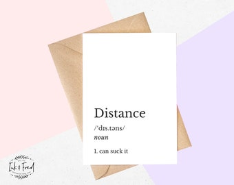 Long distance card | Etsy