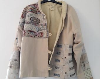 Vintage Patchwork Homemade Jacket size 6/10