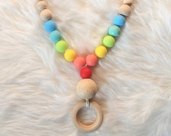 Breastfeeding and Babywearing Rainbow necklace