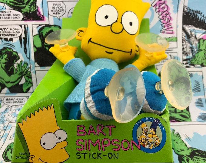 Featured listing image: Vintage 1990 -Bart Simpson- Window Stick On