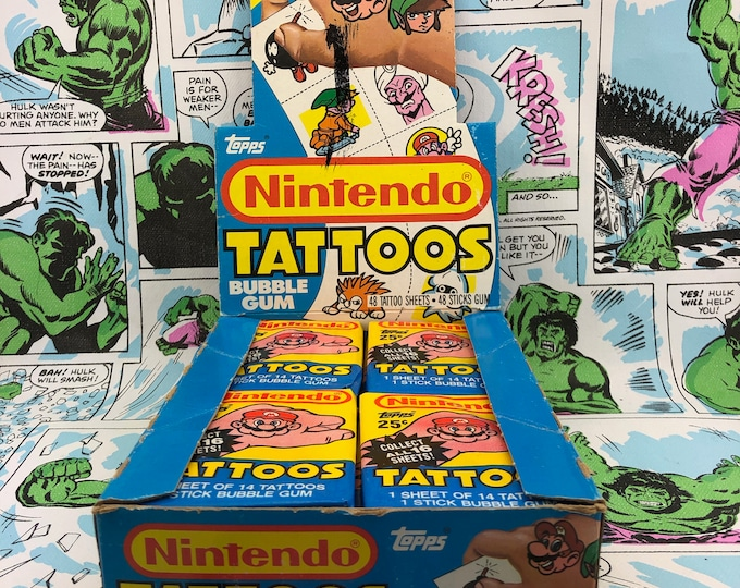 Featured listing image: Nintendo Tattoo Wax Packs from 1989