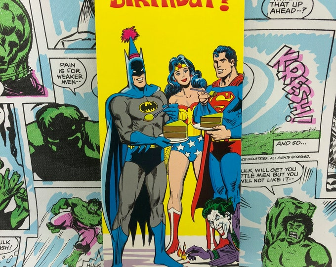 Featured listing image: Super Friends -Warmest Wishes- 1978 Greeting Card