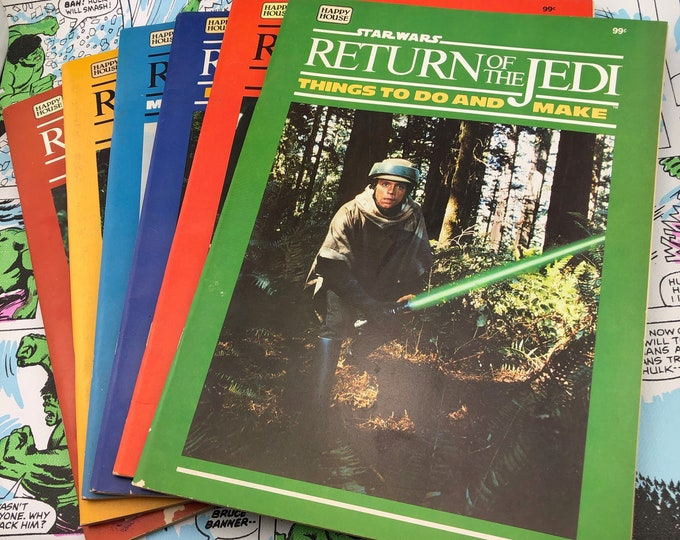 Featured listing image: Star Wars - Return of the Jedi Activity Book - 1983 - Complete Set