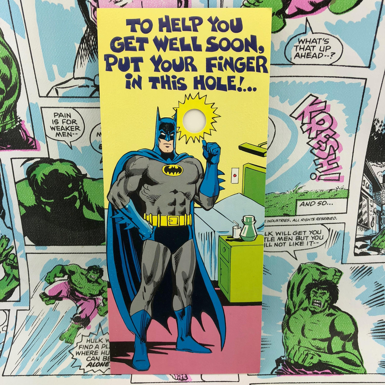 Batman Finger Hole Joker 1978 Greeting Card Etsy