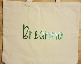 Personalized Canvas Bag with Name