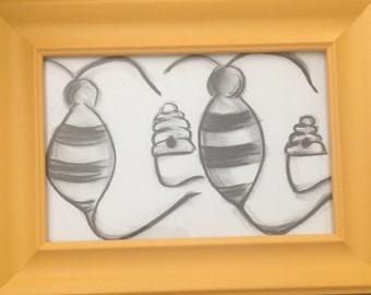 Custom Children's Name Drawing (11x14 - unframed)