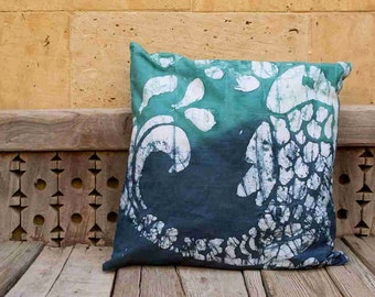 Batik Throw Pillow Cover - Egyptian Hand Made