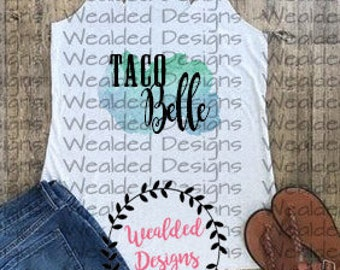 Taco Belle T-shirt Design - seulement - images png-Instant Download for sale  Delivered anywhere in Canada