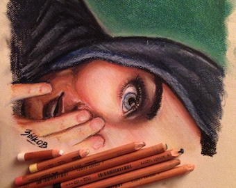 Pastel, Paint, and Pencil Artwork