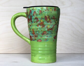 Ceramic Travel Mug - Toy Box (with handle and lid)
