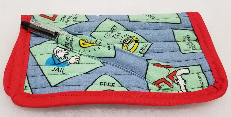 Monopoly Cell PhoneCheckbook cover