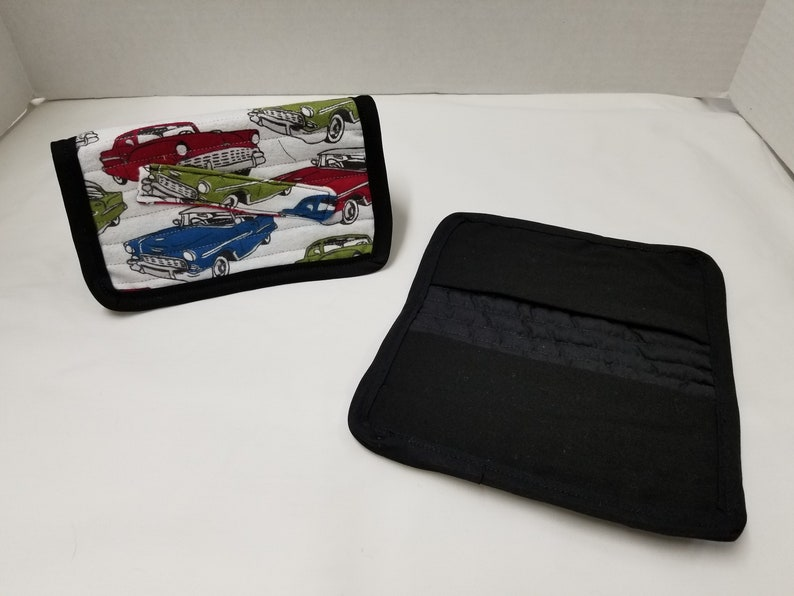 cell phoneCheckbook cover Vintage Cars