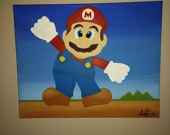 Mario bros painting painting