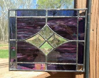 Purple Star Bevel Panel