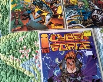 3 cyberforce comic books