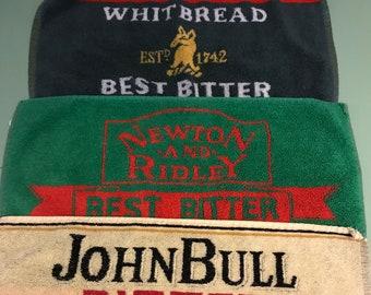 Vintage Authentic English Pub Towels (1980's)