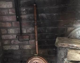 Copper French vintage chestnut pan