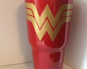 Wonder Woman 30oz Stainless Steel Tumbler Powder Coat