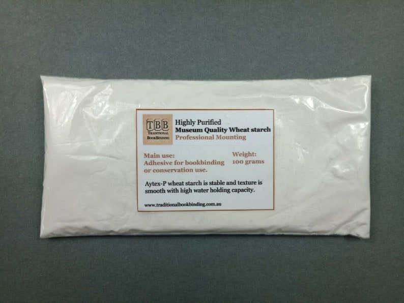 Bookbinding wheat starch for making past Highly purified museum quality